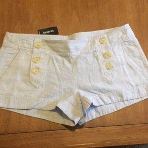 Express Shorts - Blue Linen Express shorts